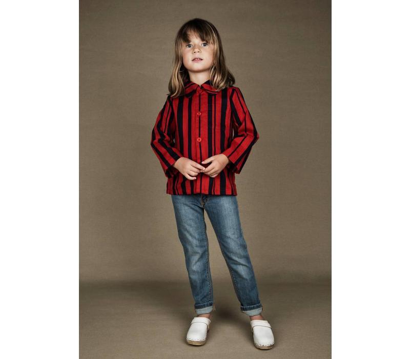 Odd stripe woven shirt Red