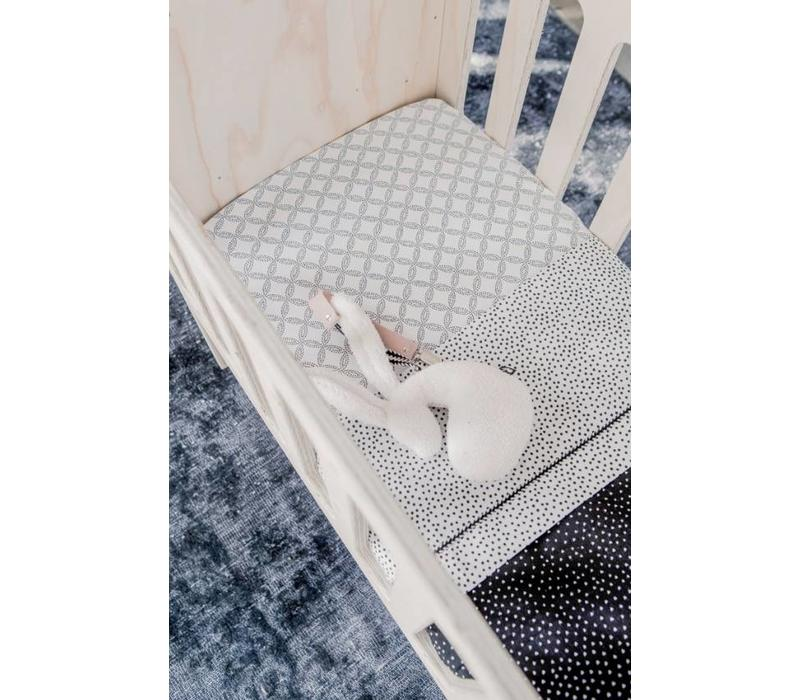 Baby crib sheet Cozy Dots offwhite (80x100cm.)