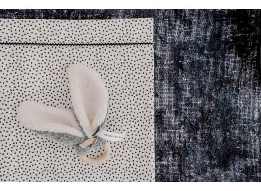 Baby crib sheet Cozy Dots offwhite (80x100cm.)