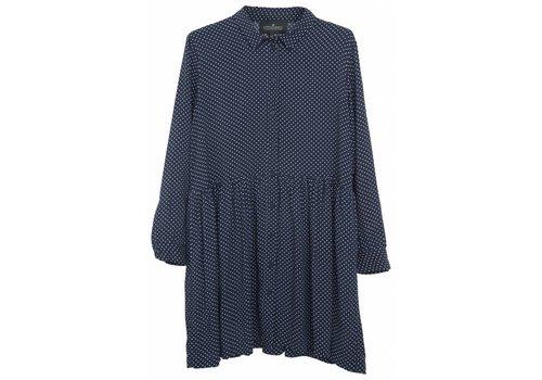 Designers Remix Girls LR Rion Dot Shirtdress,  Navy w. White Dots