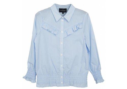 Designers Remix Girls LR Cali Ruffle Shirt, Light Blue