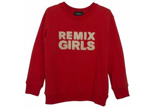 Designers Remix Girls LR Remix Sweatshirt, Red