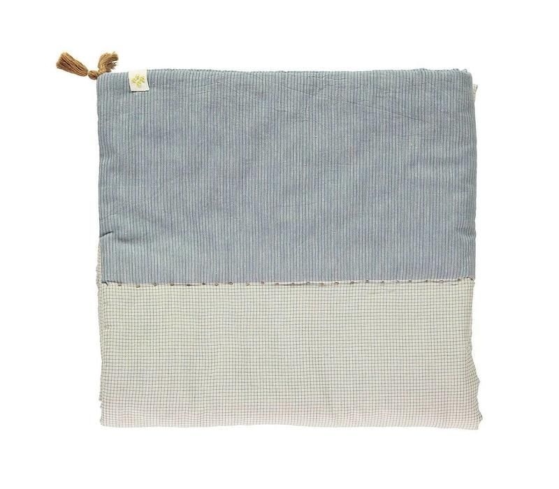 Limited Edition Hand Woven Graph Check Blue/Natural