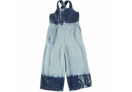 Stella McCartney Kids Leah Girl All In One Tye&Dye Washed Denim