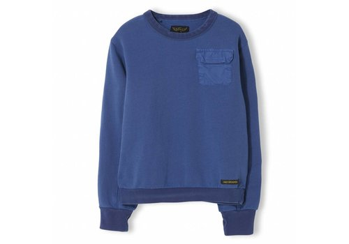 Finger in the nose Brian Indi Blue - Boy Knitted Crew Neck Sweatshirt