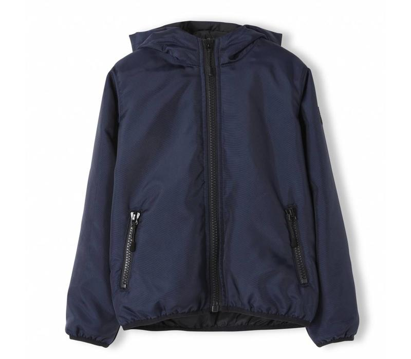 Buckley Super Navy - Unisex Woven Hooded Wind Breaker
