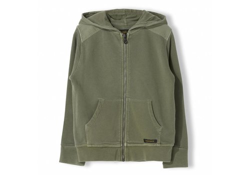Finger in the nose Hayden Khaki - Unisex Knitted Zipped Hoody