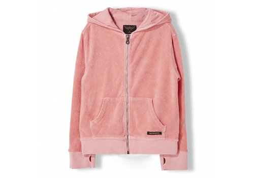 Finger in the nose Hayden Milky Pink - Girl Knitted Zipped Hoody