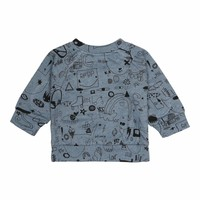 Alexi Sweatshirt Citadel Black Neppy, AOP Quirky Big