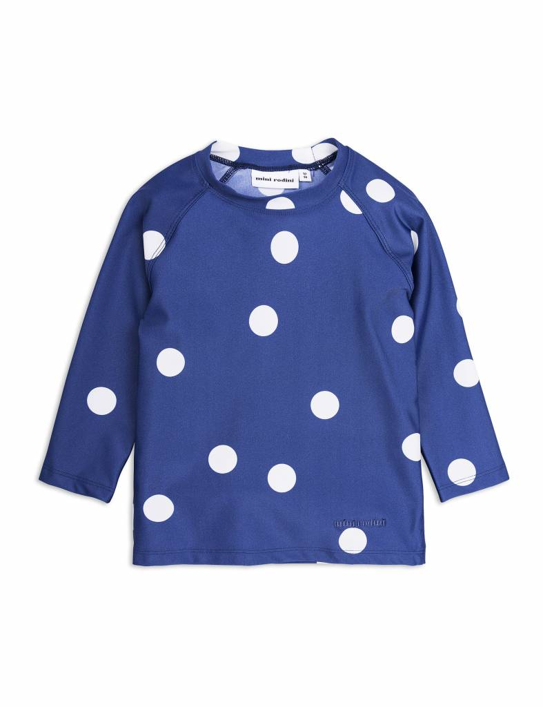 60a66ebcf83 Mini Rodini Dot Uv Top Navy