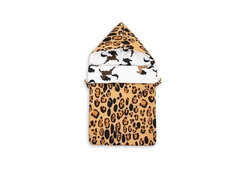 Mini Rodini Leopard/horse sleeping nest beige