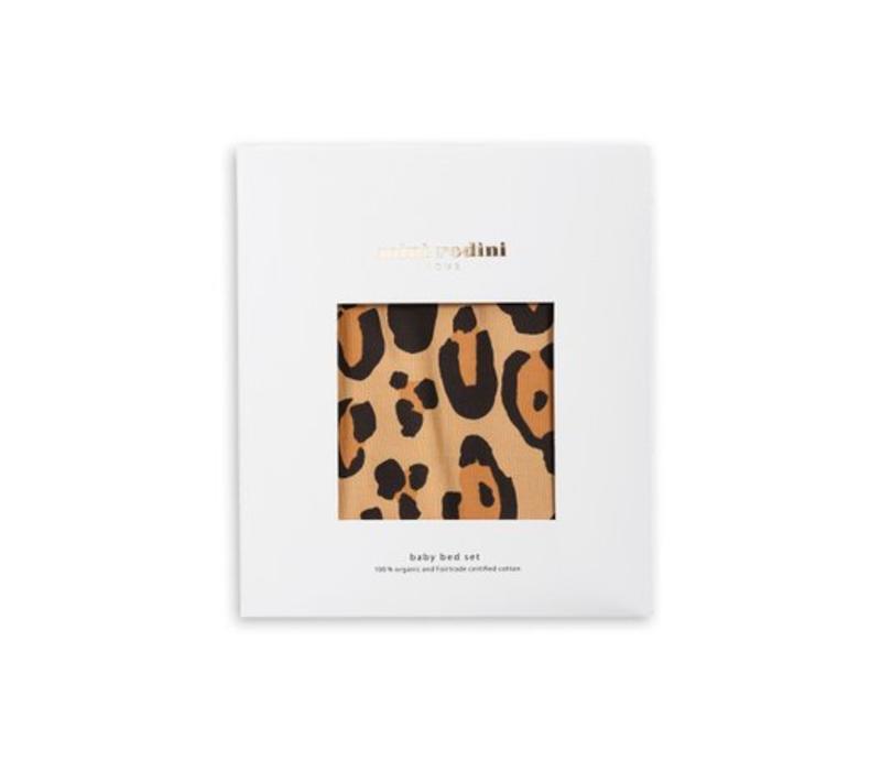 Leopard bed set brown