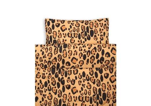 Mini Rodini Leopard bed set brown