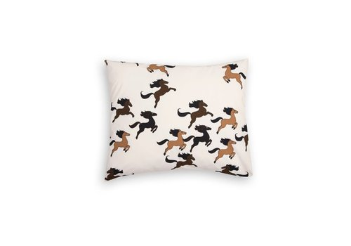 Mini Rodini Horse pillowcase beige