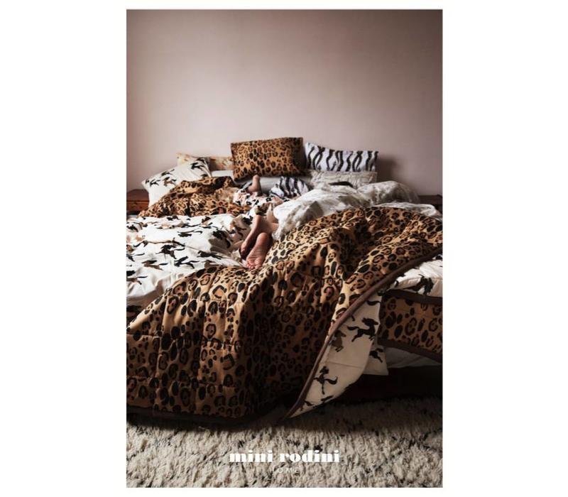 Leopard bed set baby brown