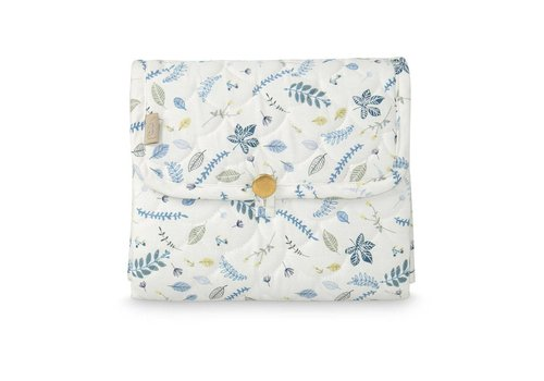 Cam Cam Copenhagen Changing Mat, Quilted -OCS-Pressed Leaves Blue