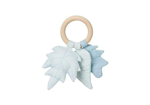 Cam Cam Copenhagen Leaves Rattle - OCS- Mix Blue