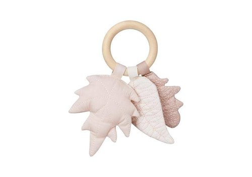 Cam Cam Copenhagen Leaves Rattle - OCS- Mix Rose