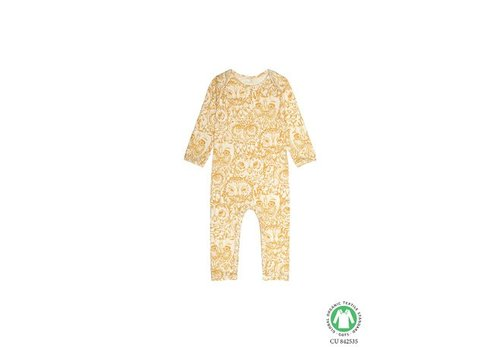 Soft Gallery Ben Bodysuit, Cream, AOP Owl Golden Glow