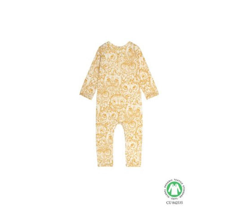 Ben Bodysuit, Cream, AOP Owl Golden Glow