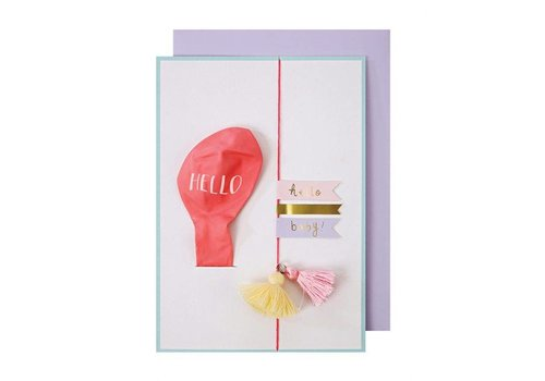 Meri Meri Pink Balloon Baby Card