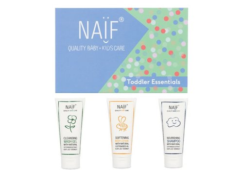 Naif Toddler Essentials (wash gel 200ml, shampoo 200ml, body lotion 200ml)