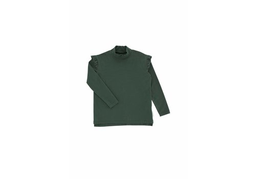 Tiny Cottons Solid Mockneck Tee Dark Green