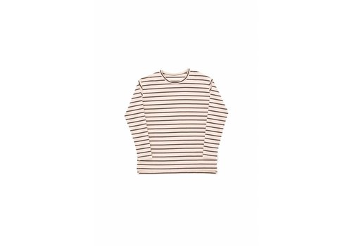 Tiny Cottons Small Stripes LS Relaxed Tee Nude/Plum
