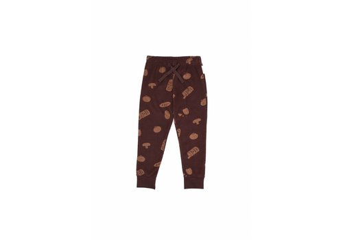 Tiny Cottons Groceries towel sweatpant plum/terracotta