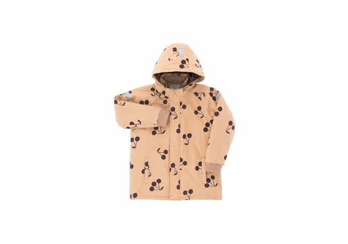 "Tiny Cottons ""Big cherries"" snow jacket dark nude/plum"