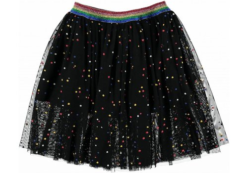 Stella McCartney Kids Amalie Tulle Skirt, Multicolor Dots Pr