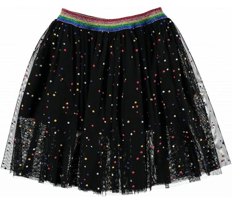 Amalie Tulle Skirt, Multicolor Dots Pr