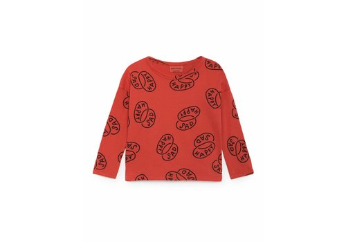 BOBO CHOSES Happy Sad Round Neck T-Shirt