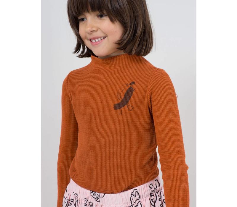 Bird Turtle Neck T-Shirt