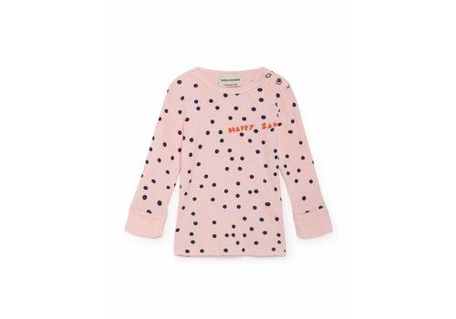 BOBO CHOSES Pink Confetti Rib T-Shirt