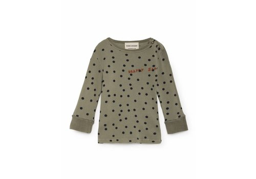 BOBO CHOSES Green Confetti Rib T-Shirt