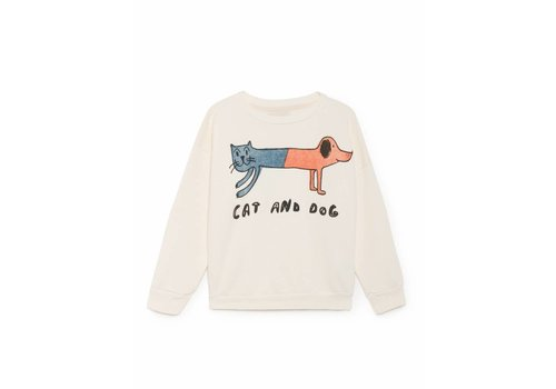 BOBO CHOSES Cat and Dog Round Neck Sweatshi