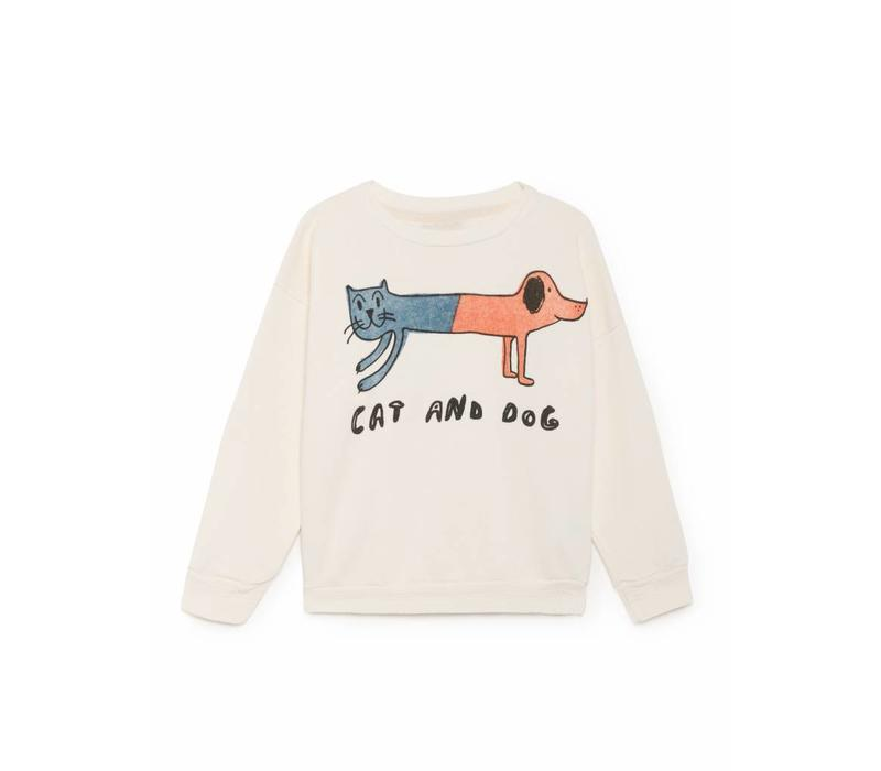 Cat and Dog Round Neck Sweatshi