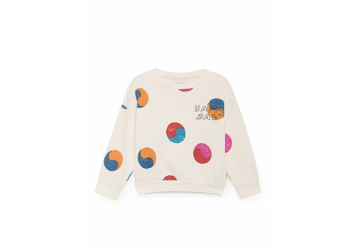 BOBO CHOSES Yin Yang Round Neck Sweatshirt