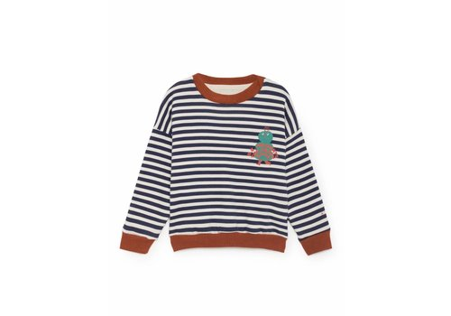 BOBO CHOSES Mr Green Round Neck Sweatshirt