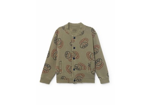BOBO CHOSES Happy Sad Buttons Sweatshirt