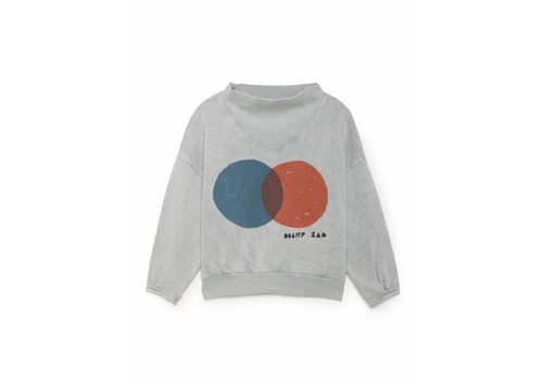 BOBO CHOSES Red And Blue Rib Collar Sweatshi