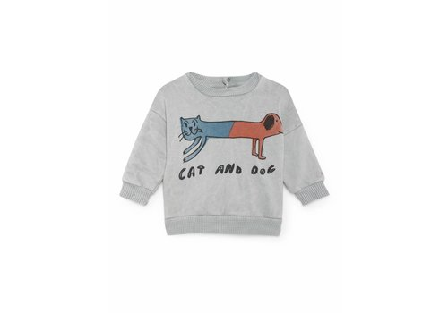 BOBO CHOSES Cat And Dog Round Neck Sweatsh
