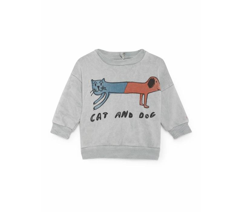 Cat And Dog Round Neck Sweatsh