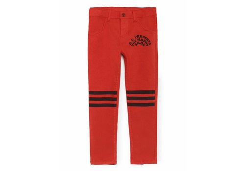 BOBO CHOSES Red Slim Fit Trousers