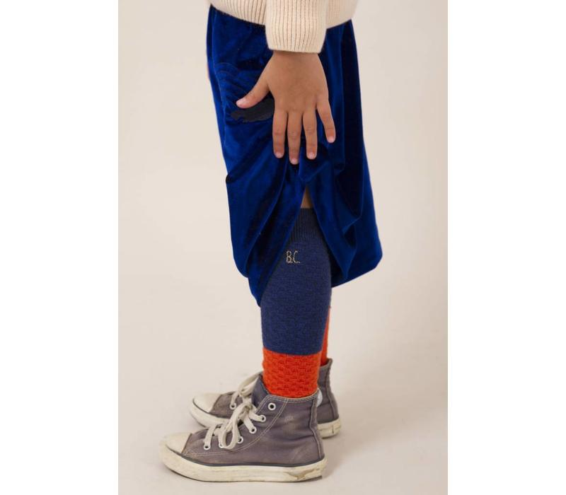 Blue and Red Long Socks