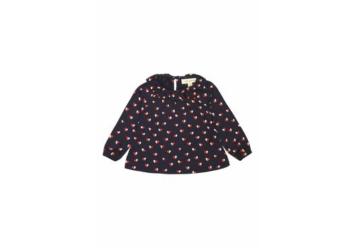 Soft Gallery Tulip Top  Navy Blazer, AOP Heartfly