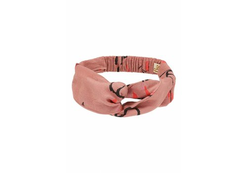Soft Gallery Wrap Hairband Old Rose, AOP Sakura