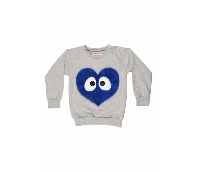 Blue Heart Sweater