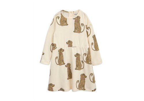 Mini Rodini Spaniel ls dress offwhite